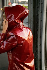805b46be0ba19e181f67c3ba3c1b55ec (npeter50) Tags: raincoat shiny red