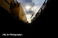 D52099 & Kirow Crane (My Art Photography) Tags: steam locomotive d52099 krupp dka kaaps spoor solobalapan heritage preservation kirow