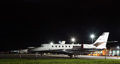 PH-MDG Citation Sovereign, Dundee (wwshack) Tags: ce680 cessna citation citationsovereign dnd dundee egpn night riverside scotland taysideaviation businessjet corporatejet executivejet phmdg
