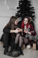 IMG_0191 (rodinaat) Tags: new year happy holiday tree christmas skull goat satan brutal metal metalhead longhaie redhair red black