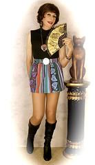 DSC05876 (msdaphnethos) Tags: tv boots cd tgirl transgender transvestite hosiery gogo brunette crossdresser crossdress nylons minidress daphnethomas