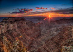 Grand Canyon Horizon (Cape Royal) (Kharak2587) Tags: sunset arizona america evening nationalpark nps dusk grandcanyon canyon hdr northrim kaibab brightangelcanyon