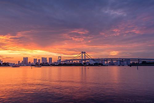 Rainbow Bridge Sunset, Tokyo