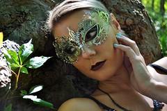 Masks (blinkgirl182x) Tags: ladies black bunny nature fashion outdoors high mac women mask natural lace goth masks morbid playboy masquerade pinup