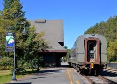 Tail end of the Adirondack Scenic train (Michael Berry Railfan) Tags: ny newyork adirondacks saranaclake adirondackscenicrailroad adirondackscenic