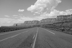 Lonesome Highway (Howard Metz Photography) Tags: road arizona blackandwhite highway desert desolate reservation