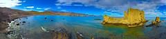 Panorámica de Escullos, Almería. (eustoquio.molina) Tags: los escullos almería playa rocosa pano panorámica naturaleza nature