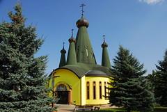 Orthodox Church (petrk747) Tags: trees sky church architecture heaven outdoor bluesky slovakia orthodox orthodoxchurch svidnik