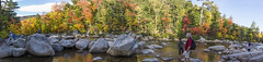 DSC07237NX5Na Swift River  2015 Paul Light (Paul Light) Tags: autumn trees people panorama men nature water landscape outside outdoors women rocks newhampshire panoramic albany recreation kancamagushighway swiftriver lowerfallsscenicarea reallyrightstuffpanokit
