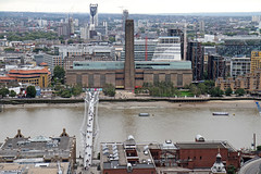 Tate Modern (Garrett Rock) Tags: city uk greatbritain england urban london weather thames clouds view cloudy britain stpauls millenniumbridge september tatemodern southbank foster observatory vista borough wren christopherwren stpaulscathedral overlook riverthames powerstation southwark cityoflondon vantagepoint centrallondon sirnormanfoster banksidepowerstation churchofengland sirchristopherwren toppoint