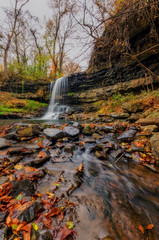 The Secret Waterfall (Brad Truxell) Tags: autumn trees fall nature water leaves waterfall stream hdr sigma1020mm dynamicrangeincrease nikond7000