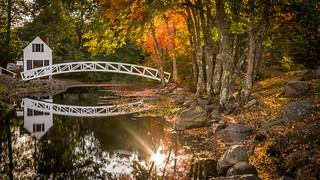wooden food bridge in Somesville