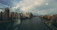 (eflon) Tags: roosevelt island manhattan divide river tram reflections stitch city bldgs east queensboro bridge