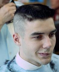 Aristotelis Flat-top no9 (John Elmslie) Tags: street portrait haircut toronto west men flat top queen barber flattop hairstylists aristotelis