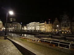 Gand (THEfunkyman) Tags: night canal belgium belgique nuit gent gand leie faved