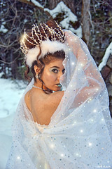 Snow Peek (All About Light!) Tags: portrait fashion sparkles glamour whitedress snowprincess arthurkochphotography