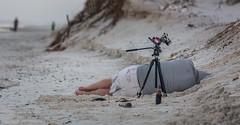 I'm Tired (C.Fredrickson Photography) Tags: camera sleeping beach beer sand december bottles florida tripod fl capesanblas manfrotto 2015 carlfredrickson carlfredrickson2015