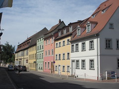 House colors of Untere Sandstraße, Bamberg, Germany (Paul McClure DC) Tags: architecture germany bayern deutschland bavaria bamberg franconia historic franken may2015