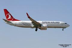 TC-JVY LMML 05-10-2016 (Burmarrad) Tags: airline turkish airlines aircraft boeing 7378f2 registration tcjvy cn 60024 lmml 05102016