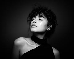 ... (Artem Vasilenko) Tags: monochrome studiolight studio 85mm girl contrast aplaceforportraits canon blackandwhite dark mood spot light feelings artemvasilenko portrait filmlook