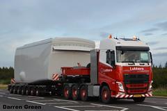 LUBBERS VOLVO FH 8X4 74-BFJ-6 (denzil31) Tags: lubbers volvofh 8x4 volvotrucks nooteboomtrailers nacelle stgocat3 wind farm transport holland corriemoilliewindfarm heavyhaulage