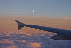 A moon over a wing over the clouds.... (dksesh) Tags: seshadri dhanakoti harita panasonicdmcg6 panasonicg6 dhurmukhisamvatsara belfast sesh seshfamily haritasya panasonic dmcg6 g6 airlingus
