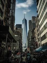 (fermattei) Tags: ny nyc newyorker oldandnew contrast building sky clouds cloud bigapple fernandomattei newyorkcity newyork manhattan one worldtradecenter