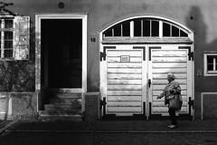 Once i was 18 years old (Leica M6) (stefankamert) Tags: stefankamert street leica leicam6 m6 m bw baw sw blackandwhite blackwhite voigtlnder nokton ilford fp4 film analog shadow woman monochrome mono city