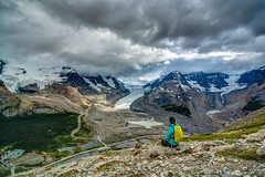 Wilcox Pass, Jasper, Canada (lehtuh) Tags: landscape jasper national park trail hiking wilcox pass canada rockies columbia icefield overlooking yellow backpack glacier