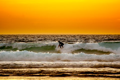 Golden Surfer (Tony Shertila) Tags: 20160818213104 areia lisboa prt portugal geo:lat=3873179071 geo:lon=947360516 geotagged europe cascais praiadacrismina beach coast weather day clear sky ocean atlantic strand sunset surfer waves
