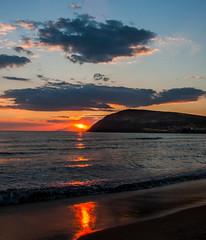 Lemnos Sunset over Mount Athos as seen from Myrina Riha Nera Beach ( Myrina Town)  Greece ( Canon EOS 40D & EF-S 17-85mm Zoom) (1 of 1) (markdbaynham) Tags: greece grecia greek greka lemnos limnos island northaegean gr canon canonites canonite eos 40d apsc dslr
