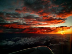 Red Route One (StefoF) Tags: sunset tramonto sole sun nuvola clouds finestrino windowseat nuvole cloud sky cielo airbus airliner aereodilinea alitalia az