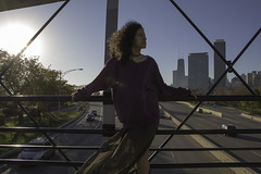 Capturing a breeze (aerojad) Tags: portrait portraiture portraiturephotography model models people postthepeople autumn fall lsd lakeshoredrive skyline woman women