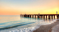 Sul pontile al tramonto (* landscape photographer *) Tags: trebbisacce calabria italy seascape mare sea paesaggio marino pontile mareionio tramonto sunset salvyitaly sa sasi salvo flickr 2016