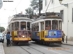 CCFL 551 e 560 na s paragens provisrias do Largo da Graa (madafena1) Tags: ccfl 551 560 largo da graa elctricos trams lisboa lisbon