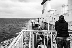 Was da hinten liegt / What's left behind (photobeyDE) Tags: onboard schiff schweden street wasser schwarzweiss trelleborg se