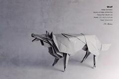 Wolf - Hideo Komatsu (valitrenta) Tags: wolf hideo komatsu works paper papiroflexia paperfolding lobo origamishop tissue foil animal fujifilmx30