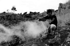 Steam Eggs 3 (richardha101) Tags: bali indonesia mountain mount batur hiking hike asia travel wanderlust bw blackandwhite