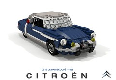 Citroen DS - ID19 Le Paris Coupe - 1958 (lego911) Tags: citroen ds id 1d19 le paris coupe 1958 1950s classic hardtop france french auto car moc model miniland lego lego911 ldd render cad povray lugnuts challenge 108 9th birthday lugnutsturnnine turns nine 78 placeseveryone place everyone foitsop