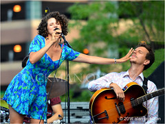 Cyrille Aimee, Cyrille Aimee Ensemble, 2016 Detroit Jazz Festival (jackman on jazz) Tags: alanjackman jackmanonjazz nikon nikkor d7000 55300mm detroit jazz festival michigan cyrille aimee singer vocalist sing song french france music gypsies delightful animated dainty talented nice ensemble chanter dress mike microphone hair curls curly hands face closed feel eyes feeling feelings dslr jpeg empathy empatlhize empathize simpatica blind language petite ami amie gypsie gypsy culture tradition beliefs fingers finger hand legs touch