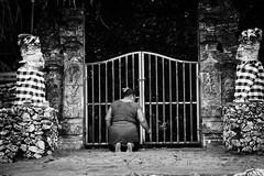 Balinese Devotional (QuantumDotter) Tags: religion blackwhite prayer blackandwhite buddhist bali bw kuta indonesia id
