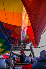 Balloon Fiesta 2016 | Pumping The Burners | Morning Ascension, 06:22AM (Facundity) Tags: aibf albuquerqueinternationalballoonfiesta balloonfiesta2016 albuquerque hotairballoons eventphotography morningascension balloonfiestapark color burners gasflame newmexico outdoors balloonistas canon5dmkiv ef70200mmf4lisusm