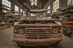 """Hi, my name is Bob and i collect cars"" (RomarioPhotography) Tags: urbex cars citroen kaiser decay abandoned nikon nikond7000 peugeot urban urbanexplorer exploring"