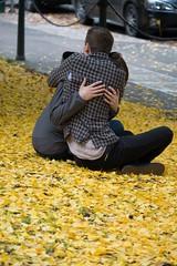 Fall-in love (RaminN) Tags: yellow inlove fall leaves hug love