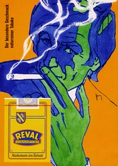 Reval (1973) Cigaretten - GREEN MAN (H2O74) Tags: zigaretten zigarette cigarettes cigarette tabak tabake tobakko tobacco reval 1973 70er 70s 1970er 1970s 1972 1974 rauch raucher nichtraucher rauchen zigarre zigarillo cigaretten glimmstängel glimmstengel rauchenverboten räuchern einräuchern geschmack taste naturrein light lights werbung werbungen reklame reklamen anzeige anzeigen anúncio alt alte ad advertising advert advertisement ads adverts advertisment grün blau orange grelle grell green blue zeichnung grafik graphic classic old anuncio verde azul naranja cigarrillo cigarrillos タバコ たばこ tabako 喫煙者 広告 派手に カラフル 古いです