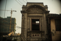 Shanghai, China (Sunset Noir) Tags: shanghai china abandoned old building chinese city retro texture town mood picture window composition shape shang hai 上海 中国 abandon moody asia