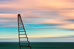 Alcnzame el cielo (Enrique Mesa) Tags: sky landscape color water wind clouds abstract stairs paisaje naturephotograph abstracto southafrica sudafrica