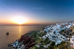 Oia Sunset - Santorini, Greece (David MONSU Photography) Tags: oiasunset oia sunset santorini santorin caldera greece grce