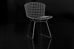 Wire chair (Jan van der Wolf) Tags: map154252v draad stoel chair minimalism minimalistic minimalisme minimal draadstoel steel silver ijzer iron wirechair musem reflection spiegeling