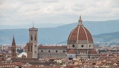 Cathedral of Florence [Explored 6/11/2016] (rebecca_ejohnson) Tags: florence italy piazzalemichelangelo piazzale michelangelo duomo cathedral florencecathedral cattedraledisantamariadelfiore vantagepoint vantage landmark cathedralofsantamariadelfiore santamaria maria italian gothic architecture basilica religious landscape dome belltower bell tower renaissance cupola